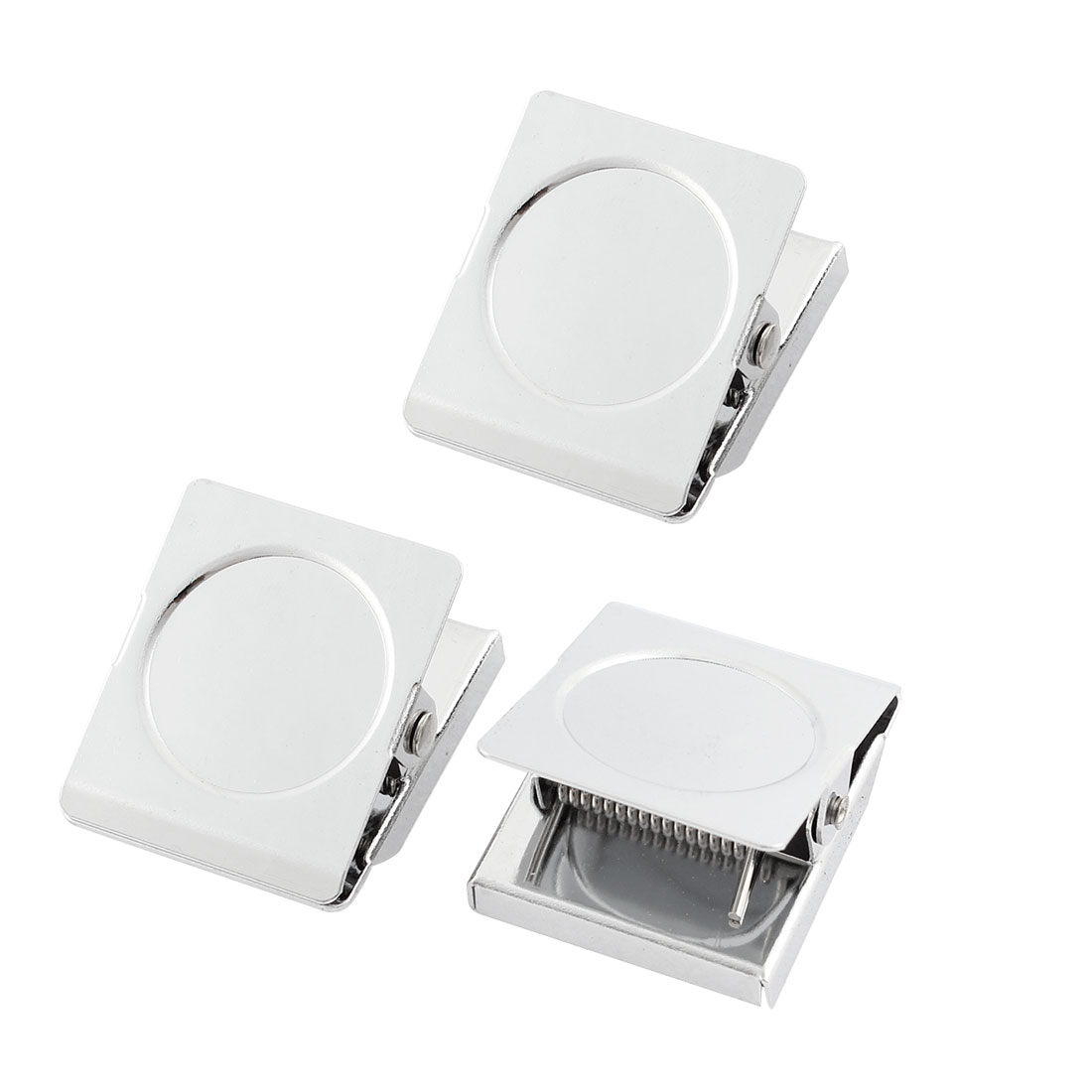 Unique Bargains Spring Loaded Magnetic Wall Clip Refrigerator Memo Note Message Holder 3pcs