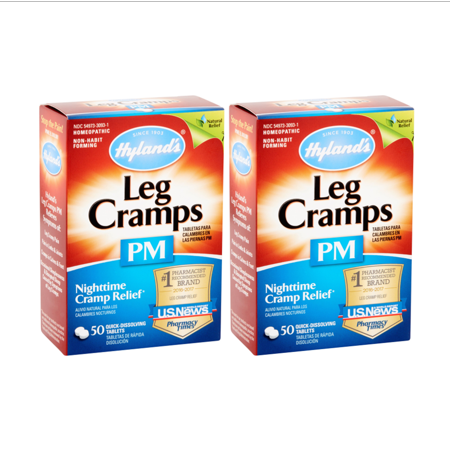 ((2 pack) Hyland's Leg Cramps PM With Quinine Tablets 50 ea)