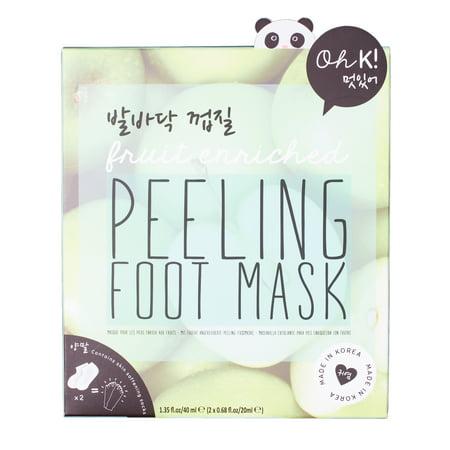 Peeling Fruit Enriched Green Apple 7 x 6 Exfoliating Gel Sock Foot Mask Green Apple Peel