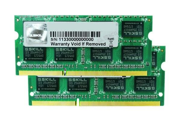 8GB G.Skill DDR3 PC3-12800 CL11 SQ Series laptop memory dual channel kit