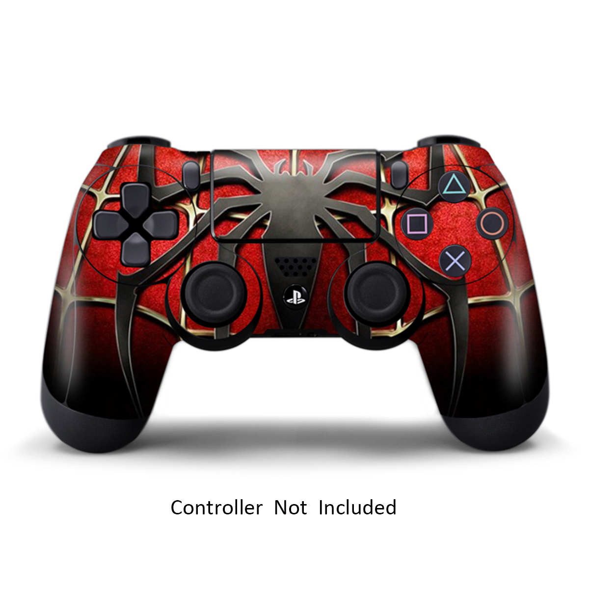 Skin Sticker for PS4 Controller Sony Playstaition 4 Games Decal Vinyl Dualshock 4 Remote Skin Widow Maker Black