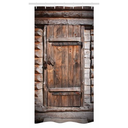 Vintage Stall Shower Curtain Rustic Wooden Door Of Old Barn In Farmhouse Countryside Village Aged