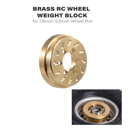 2pcs Brass RC Wheel Weight Block Counterweight for 1/10 Traxxas HSP Crawler Car 1.9inch/2.2inch Wheel Rim - image 1 de 1