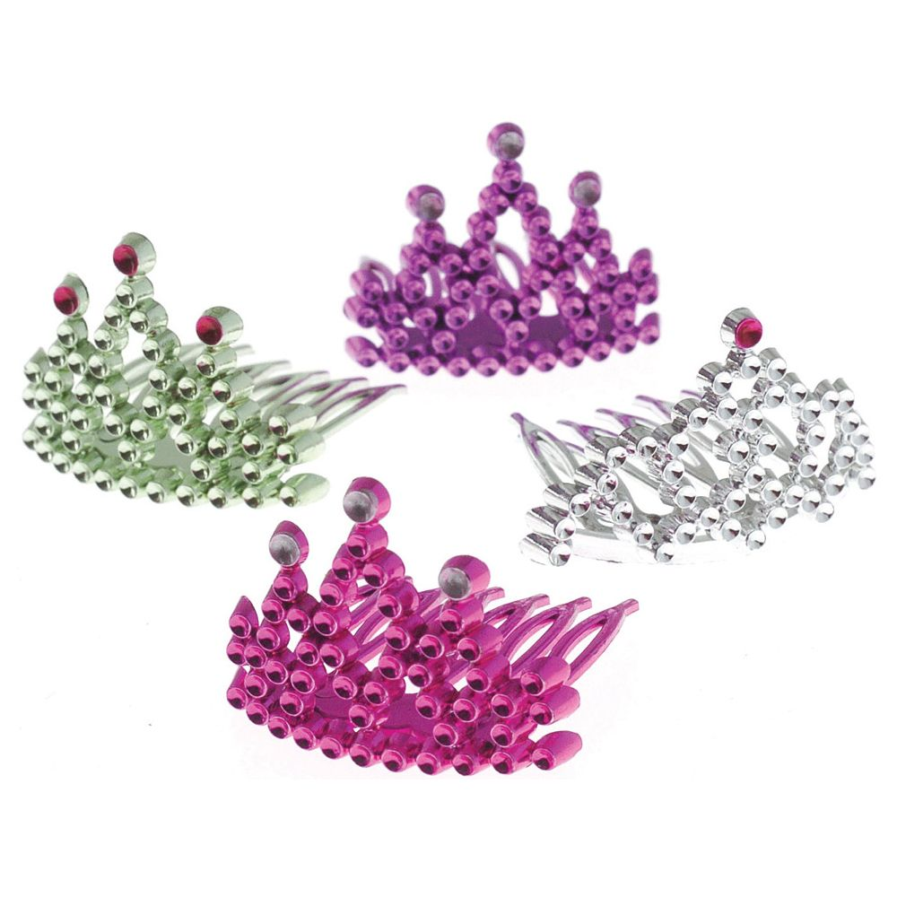 Princess Assorted Tiara Combs (12 Pack) - Party Supplies