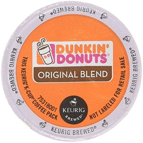 Dunkin Donuts Original Flavor Coffee K-Cups For Keurig K Cup Brewers (72 Count)