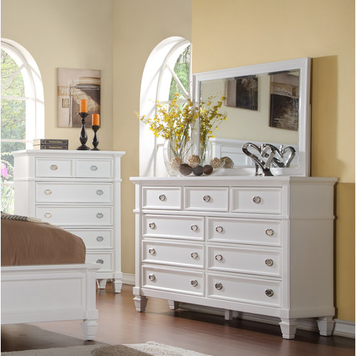 Wildon Home  Dolce 9 Drawer Dresser with Mirror