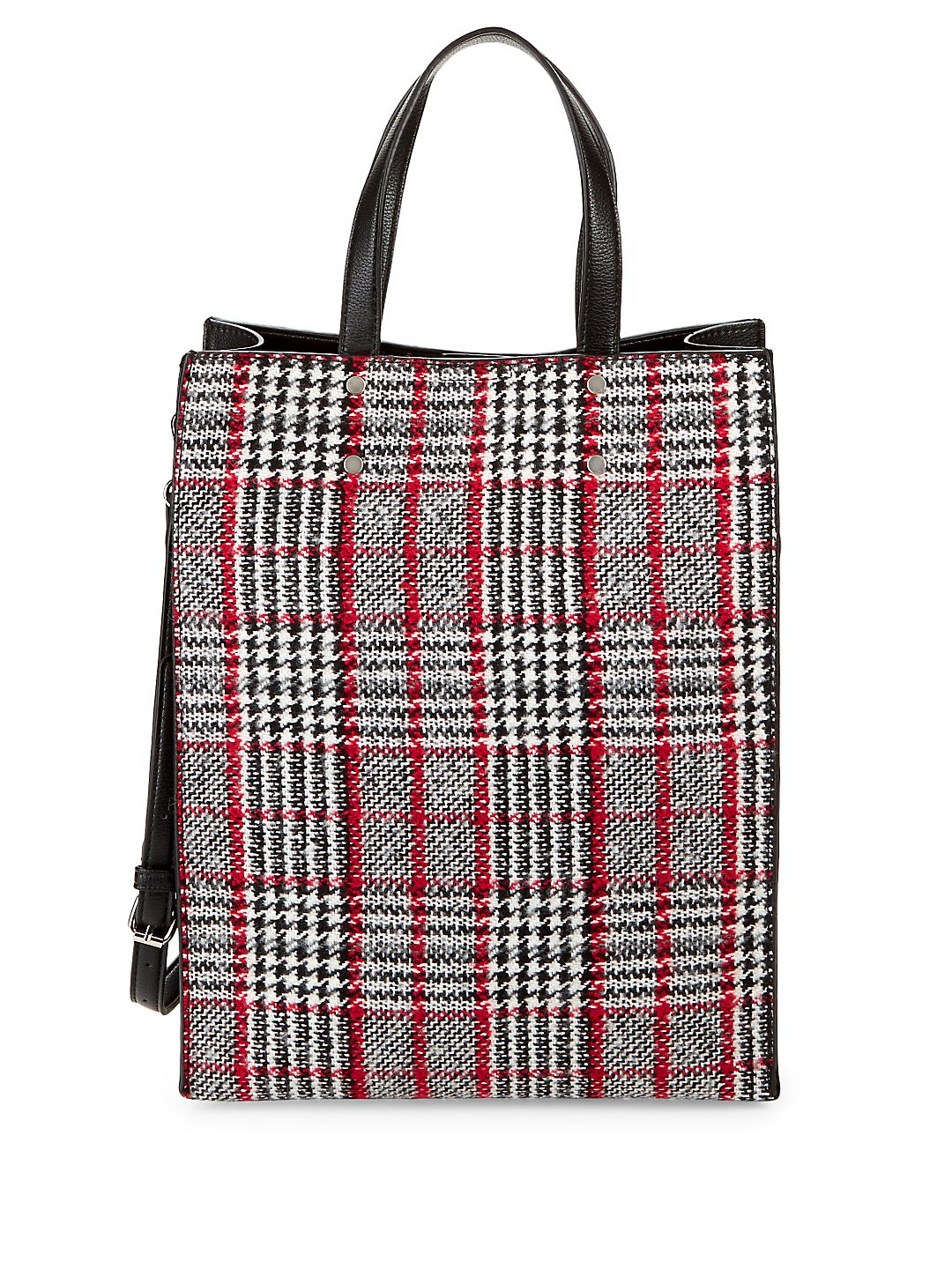 North-South Plaid Tote