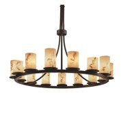 Justice Designs LumenAria Dakota 15-LT 1-Tier Ring Chandelier - Dark Bronze - FAL-8715-10-DBRZ