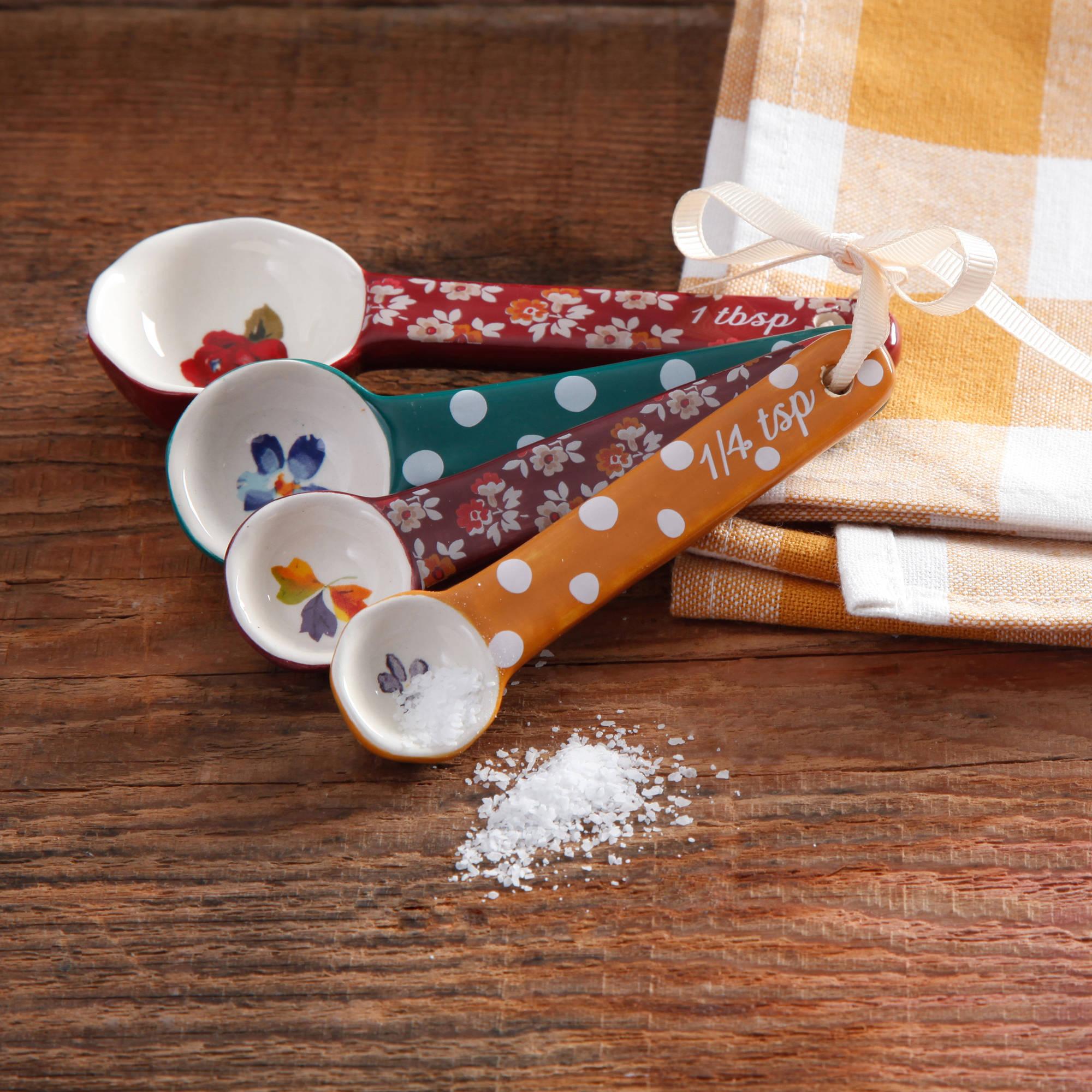 The Pioneer Woman Fall Flowers Ceramic Measuring Spoons