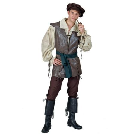 Medieval Peasant Men's Costume Renn Faire  Ren Fair - Medieval Peasant Shoes