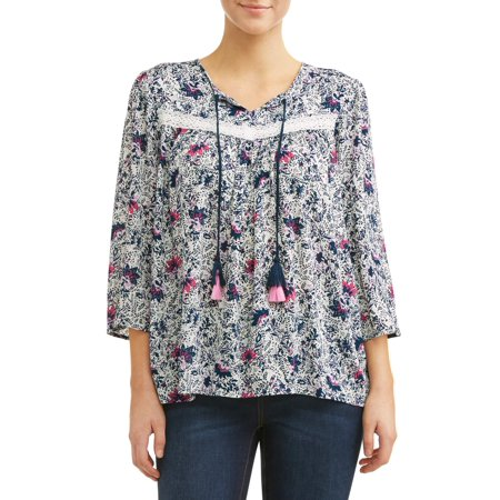 Women's Bell Sleeve Peasant Top with - Peasant Clothing