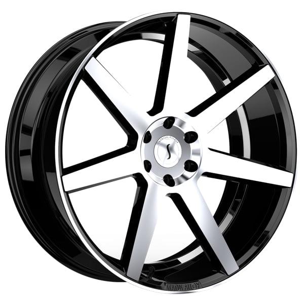 Status S838 JOURNEY 22x9.5 5x120 +15mm Black/Machined Wheel Rim