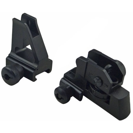 Green Blob Outdoors Iron Sights Match Grade Model 4/15 Rear & High Profile Front Sight Gas Block, DPMS (Ar 15 Low Profile Gas Block And Tube)