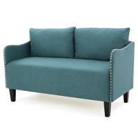 Palmer Fabric Loveseat, Dark Teal