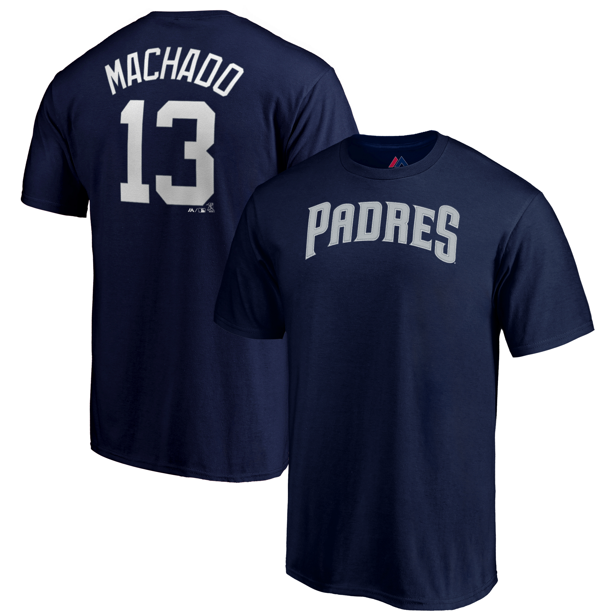 Manny Machado San Diego Padres Majestic Youth Name & Number T-Shirt - Navy