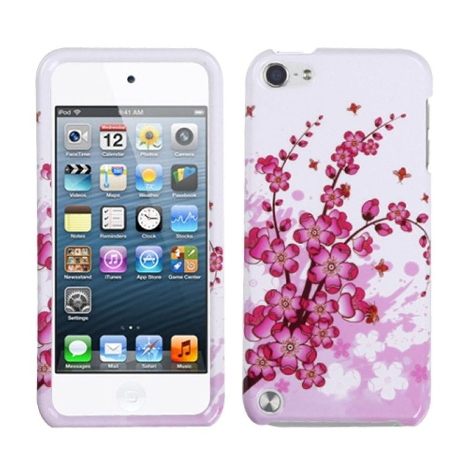 INSTEN Spring Flowers Phone Protector Cover Case For iPod Touch 6 6th 5 5th Gen