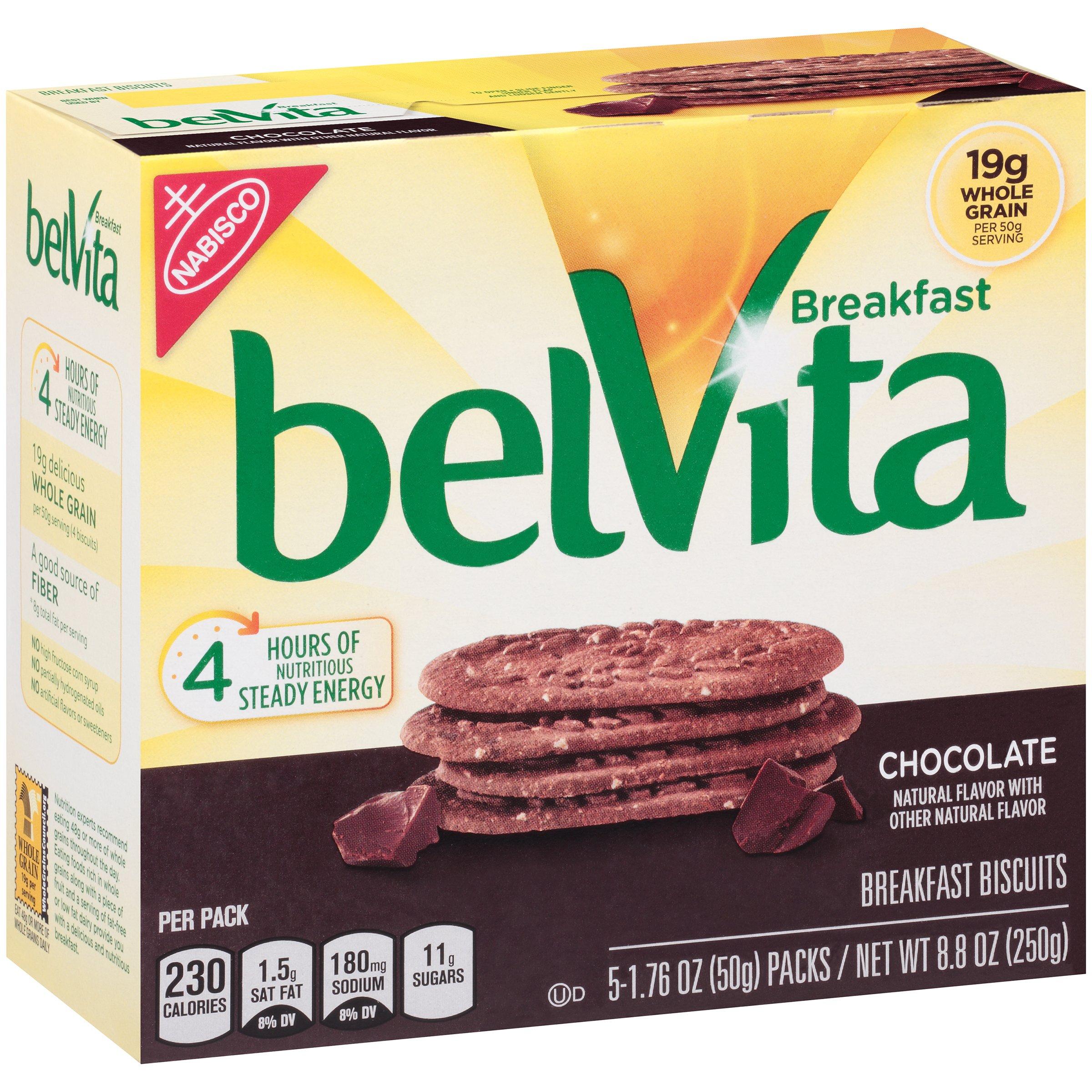 belVita Breakfast Biscuits Chocolate, 1.76 oz, 5 Count