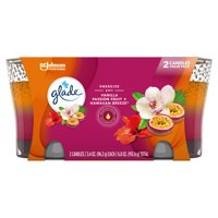 Glade 2in1 Jar Candle 2 CT, Hawaiian Breeze & Vanilla Passion Fruit, 6.8 OZ. Total, Air Freshener