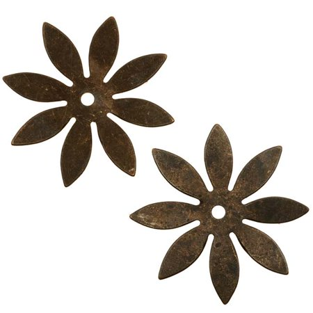 Vintaj Natural Brass 8 Petal Cut Out Flower Stamping Findings 34mm - Flower Cut Outs