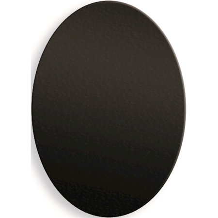 1 1/4 x 1 3/4 Oval Black Anodized Aluminum Plates-Sets of 6 (1.25x1.75mm) - image 1 of 1