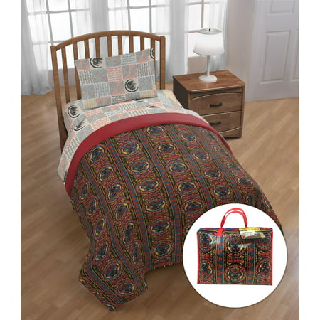 - Black Panther 'Tribal Panther' Twin Bed Set with Bonus Tote, Kid's Bedding