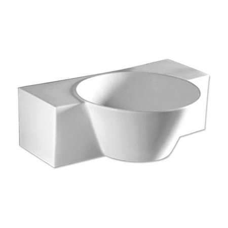 Whitehaus Collection Isabella Whkn1110 Wh Wall Mount Sink   White