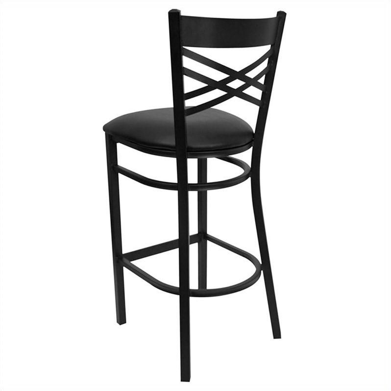 Flash Furniture Hercules 31 Quot Black Back Metal Bar Stool In