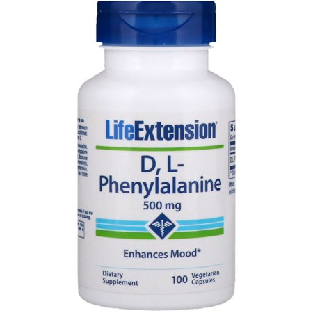 Life Extension  D  L-Phenylalanine  500 mg  100 Vegetarian Capsules