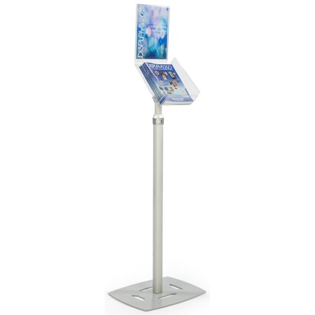 Displays2go Literature Floor Stand, 8.5