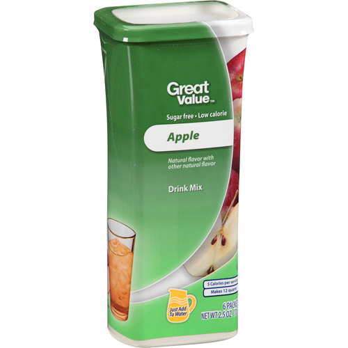 Great Value Apple Drink Mix, 2.5 oz/6 ct