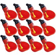 12 Pack Of Automatic Cup Style Poultry Chicken Drinkers