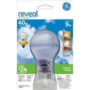 GE Lighting 79063 Reveal CFL 9-Watt (40-watt replacement) 430-Lumen A19 Light Bulb with Medium Base, 1-Pack