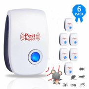 2020 Ultrasonic Pest Repeller 6 Pack, Electronic Insects & Rodents for Mosquito, Mouse, Cockroaches,Rats,Bug, Spider, Ant