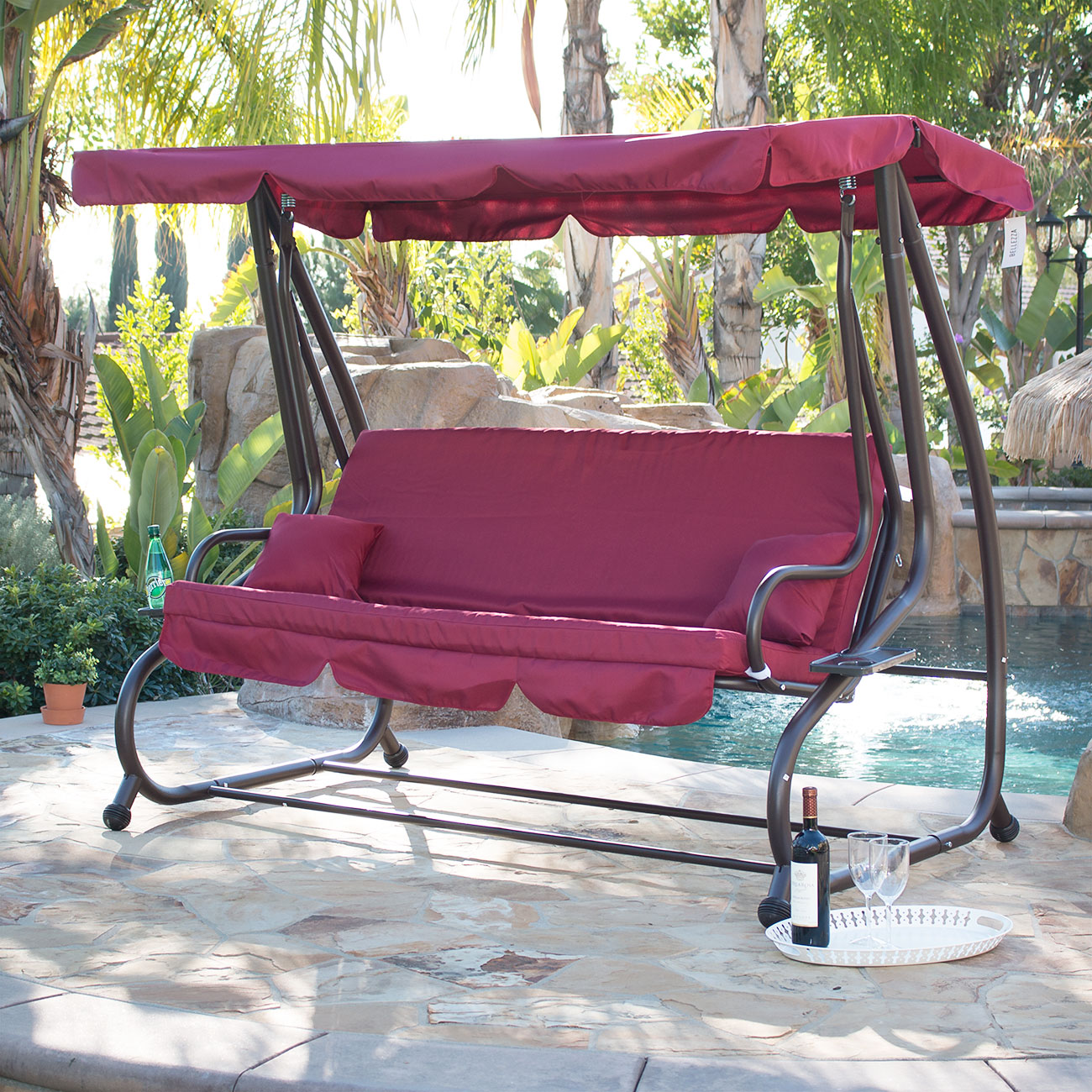 Belleze Outdoor Canopy Swing Motion Gilder Converting