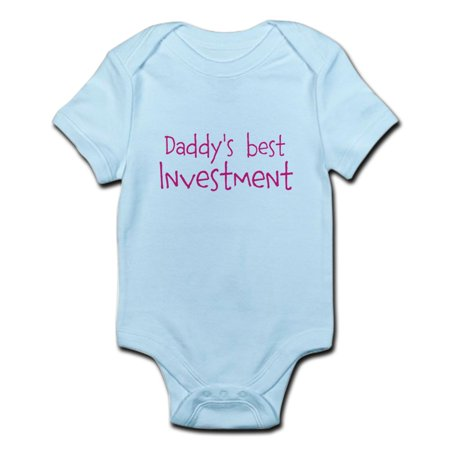 CafePress - Daddys Best Investment Body Suit - Baby Light