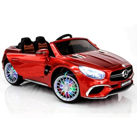 Mercedes Amg Wheel - New 12V Mercedes AMG SL65 Ride on power electric ONE SEATER car For ONE Kid with MP4 Touch Screen Remote Control LED lights MP3 - Red