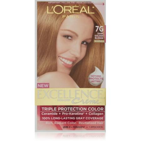 L Oreal Paris Excellence Creme Haircolor Dark Golden Blonde 7g Warmer
