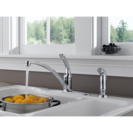 Foundations Single Handle Kitchen Faucet with Spray in Chrome B4410LF