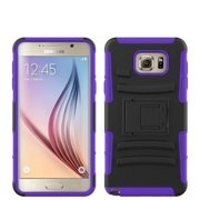 Galaxy Note 5 Case, Full Body Armor [Kickstand] Hybrid Tri-Layer Case for Samsung Galaxy Note 5 - Purple