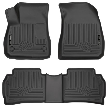 Husky Liners Front & 2nd Seat Floor Liners Fits 16-18 Malibu Black Second Seat Floor Liners
