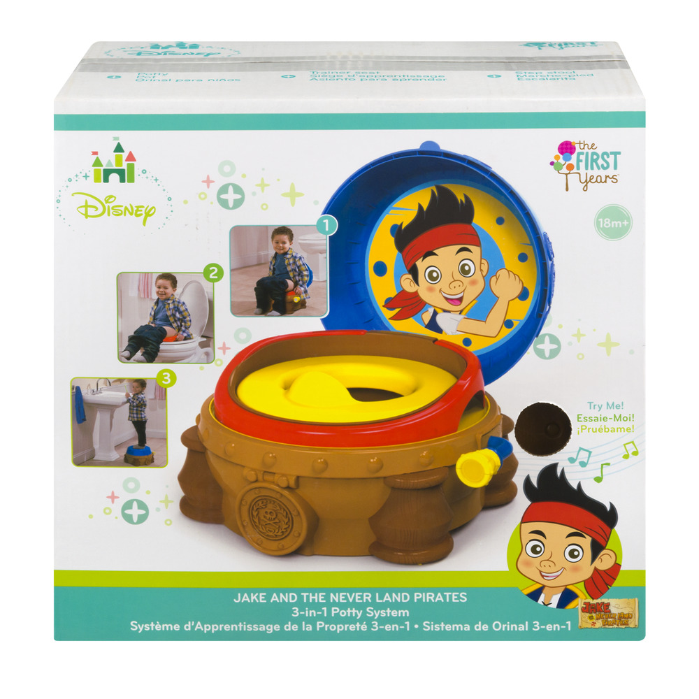 The First Years Disney Jake and The Never Land Pirates 3-in-1 Potty System 18m+, 1.0 CT