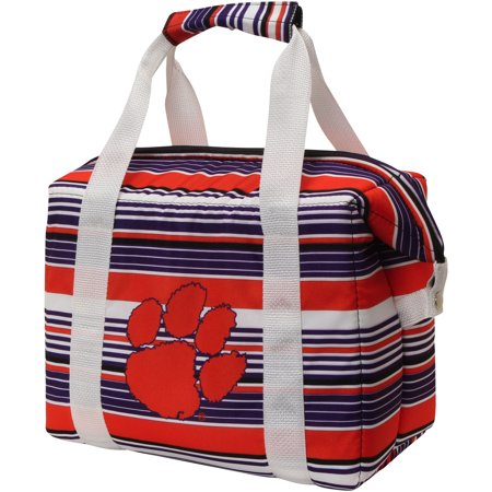 Clemson Tigers Twelve-Pack Striped Cooler - No Size