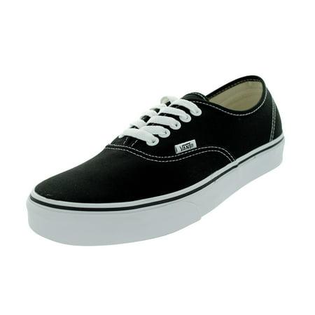 timeless design 49ed8 237fb Vans Authentic Black Canvas Skate Shoes