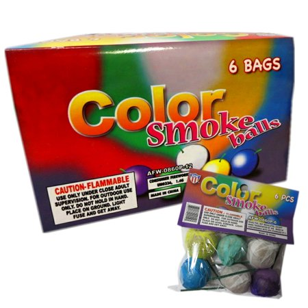 Premium Color Paper Smoke Balls for Photography & Film, Assorted Colors, 72 Pieces (Full Display Case) + FREE Surprise Gift!
