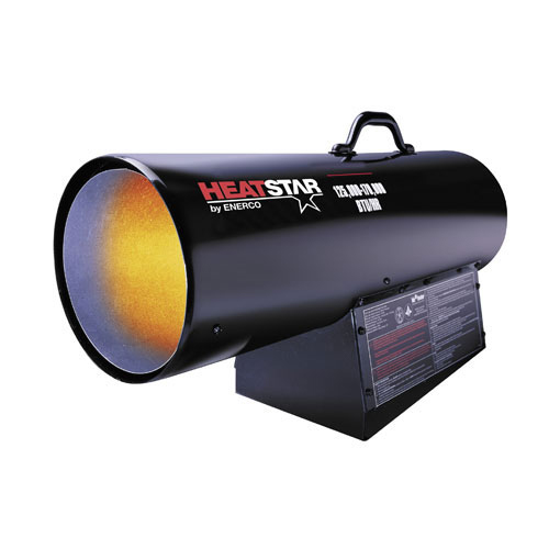 Portable Forced Air Propane Heater, 125-175,000 Bt