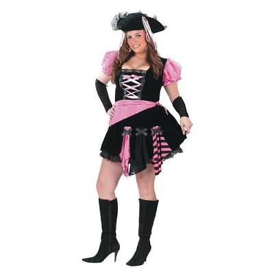 Women's Plus Size Pink Punk Pirate Costume - XXL