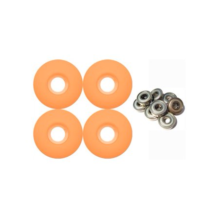 Blank Skateboard Wheels With ABEC 9 Bearings 50mm ORANGE ()