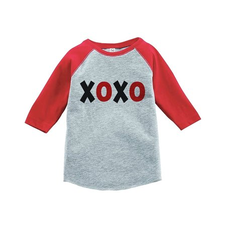 Custom Party Shop Kids XOXO Happy Valentine's Day Red Raglan - Large Youth (14-16) T-shirt](Rex Kid)