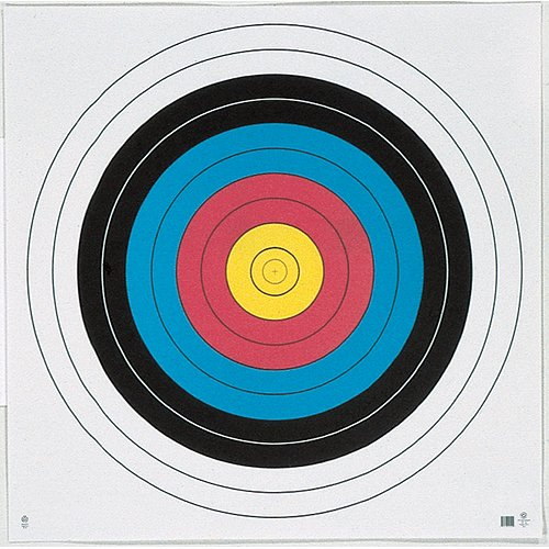 Maple Leaf Press FT60-10PK NFAA 4-Color Face Targets 60cm (10 Pack)