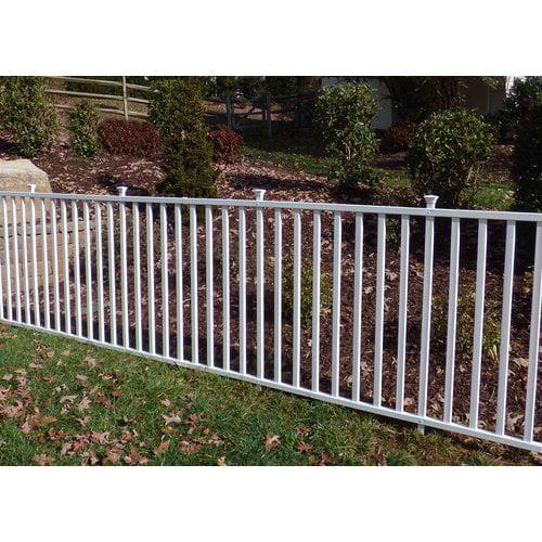 Zippity Outdoor Products 4' x 7' Birkdale Semi-Permanent Vinyl Garden Fence by